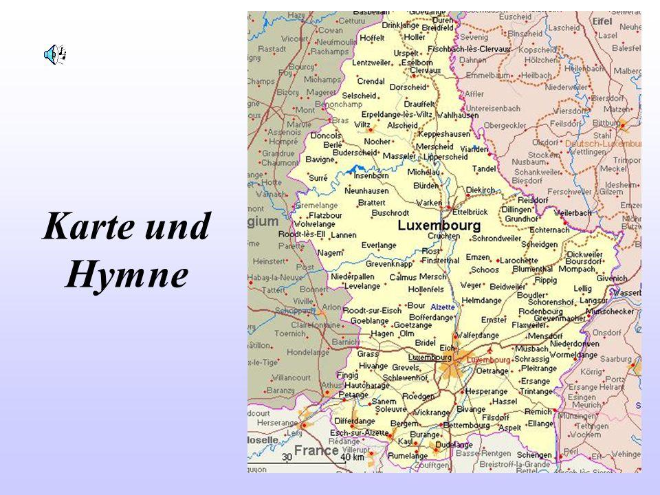 Karte und Hymne