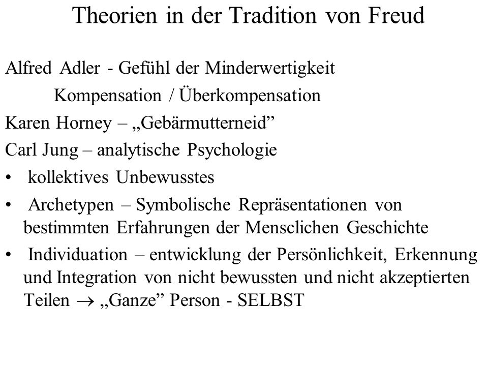Theorien in der Tradition von Freud