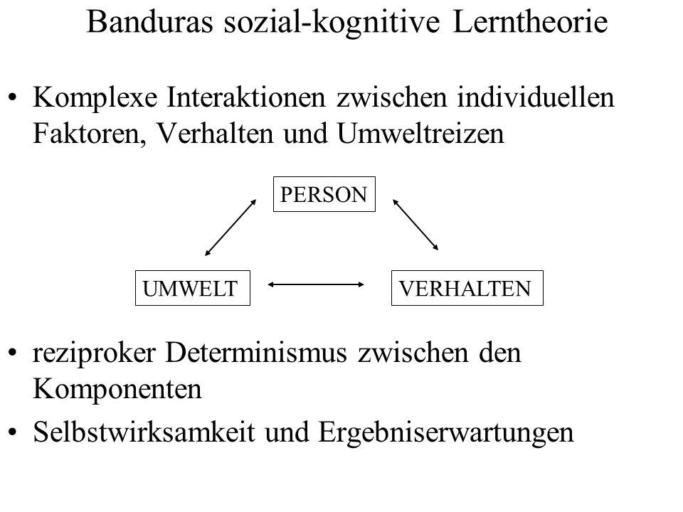Banduras sozial-kognitive Lerntheorie