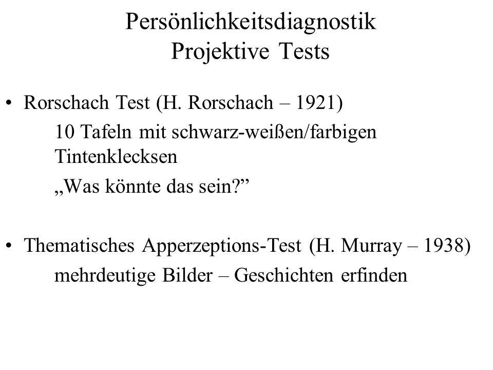 Persönlichkeitsdiagnostik Projektive Tests