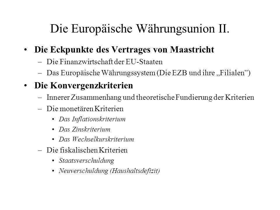 Die Europäische Währungsunion II.
