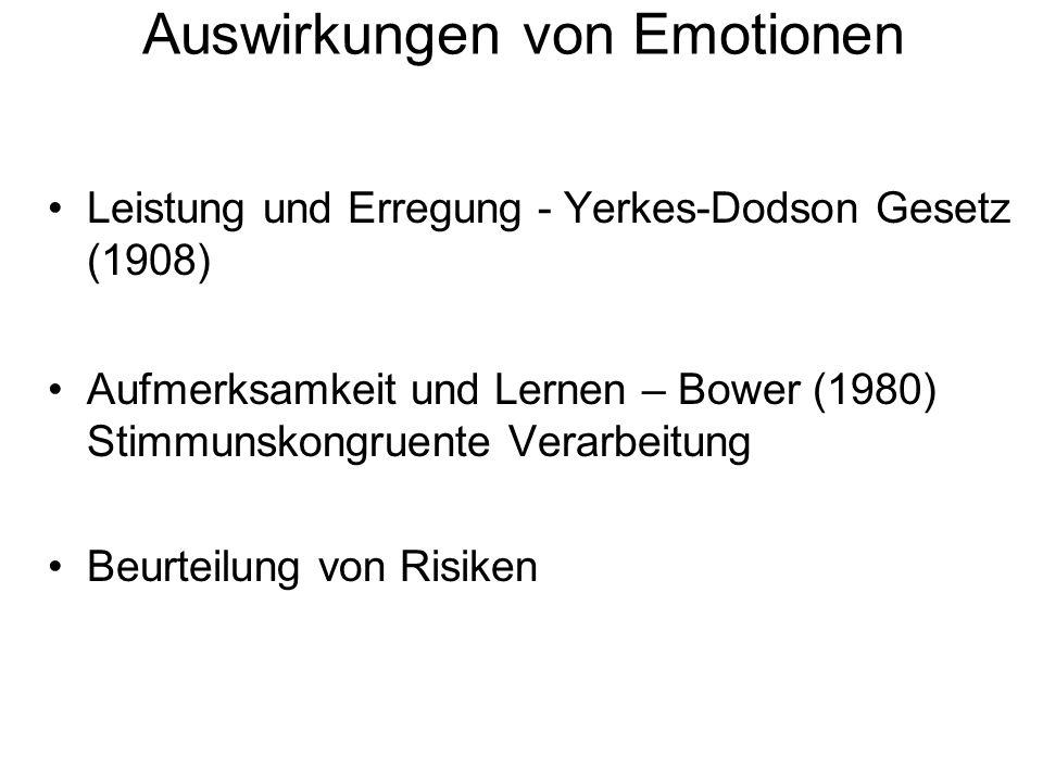 Auswirkungen von Emotionen