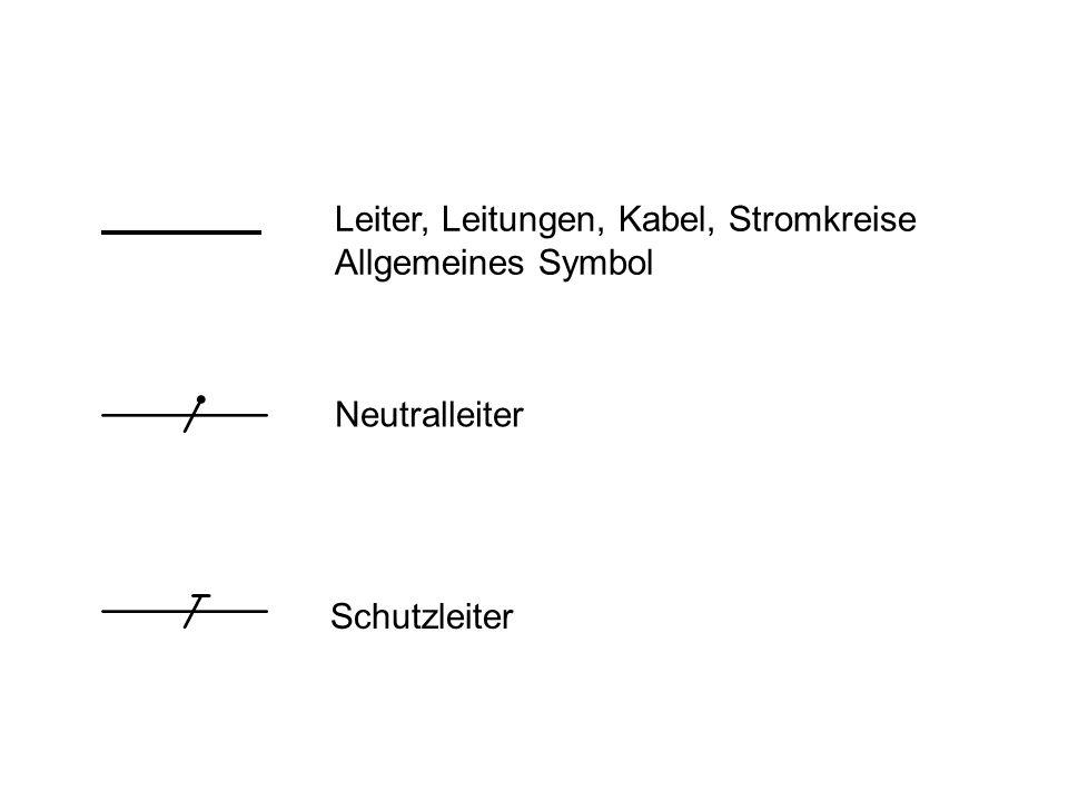 Leiter, Leitungen, Kabel, Stromkreise Allgemeines Symbol