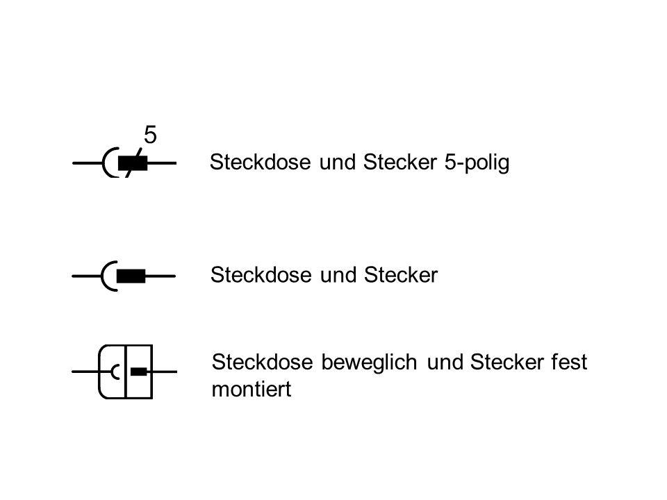 Steckdose und Stecker 5-polig