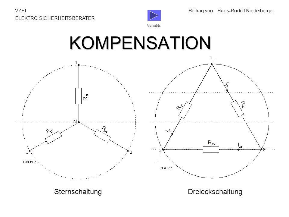 KOMPENSATION Sternschaltung Dreieckschaltung