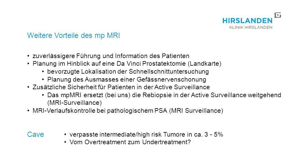 Weitere Vorteile des mp MRI