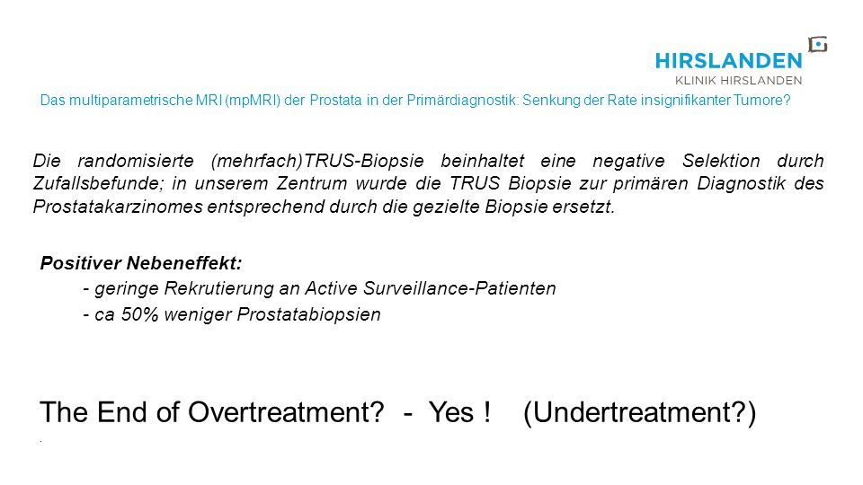 The End of Overtreatment - Yes ! (Undertreatment )