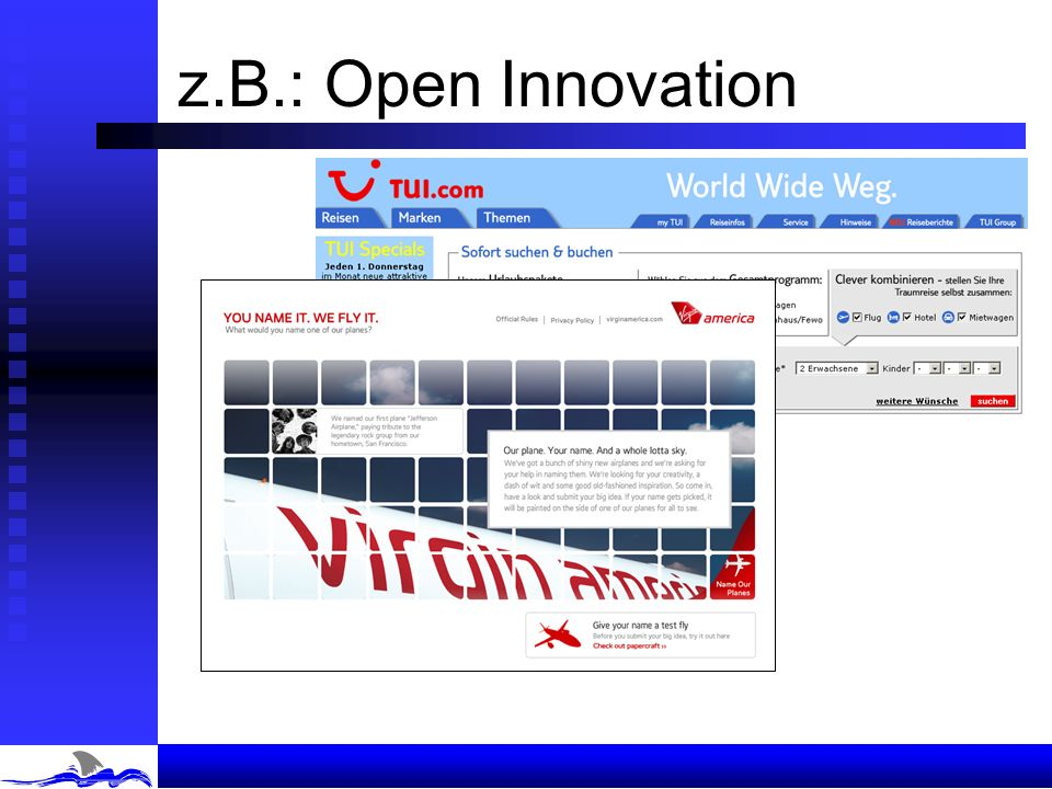 z.B.: Open Innovation