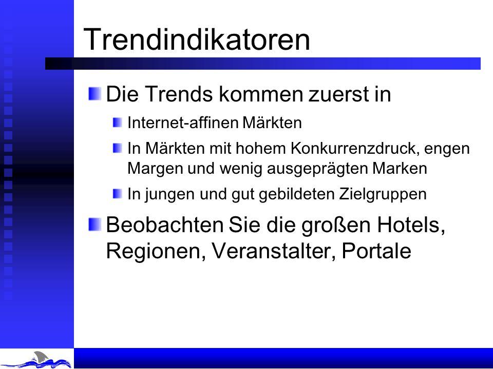 Trendindikatoren Die Trends kommen zuerst in