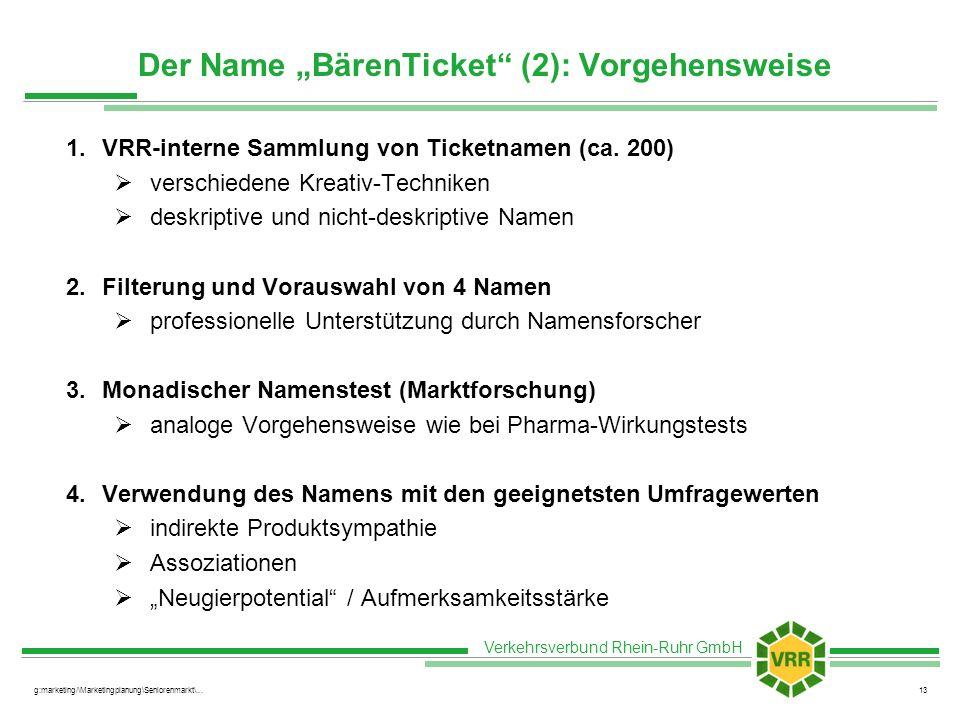 """Der Name """"BärenTicket (2): Vorgehensweise"""
