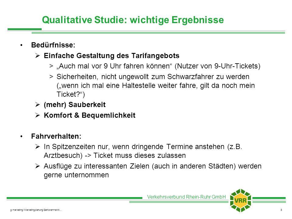 Qualitative Studie: wichtige Ergebnisse