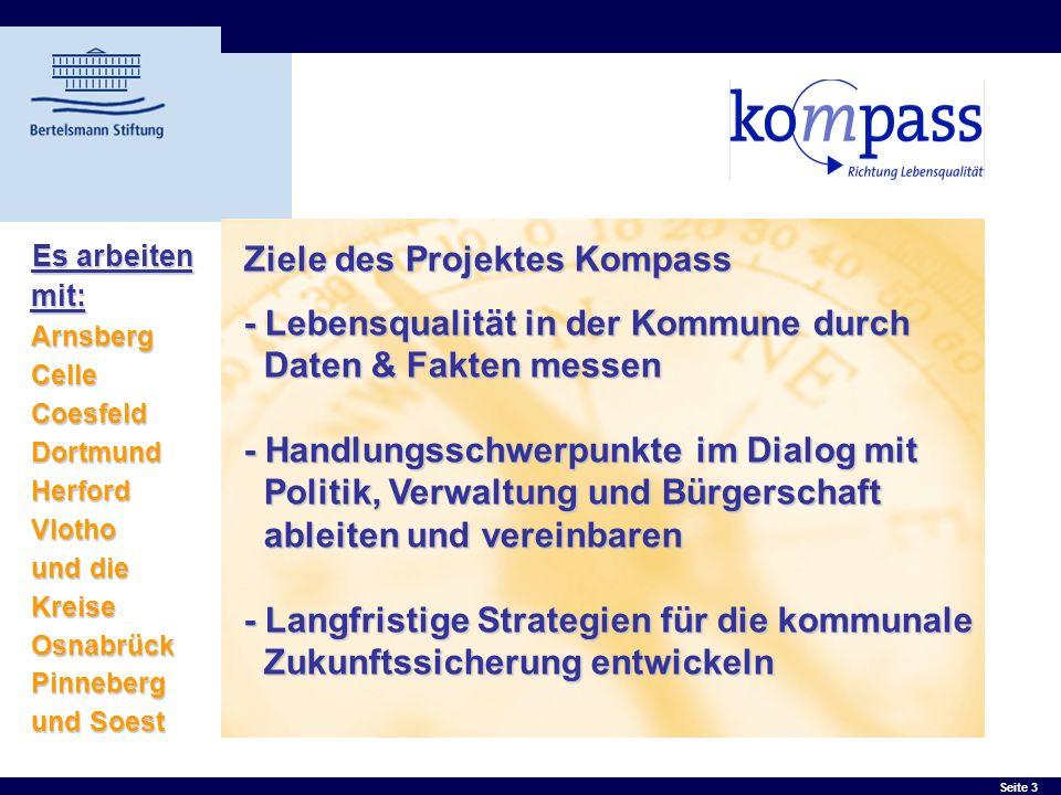 Ziele des Projektes Kompass