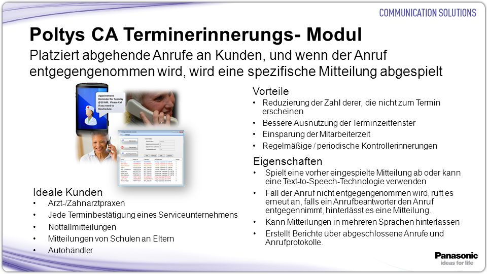 Poltys CA Terminerinnerungs- Modul