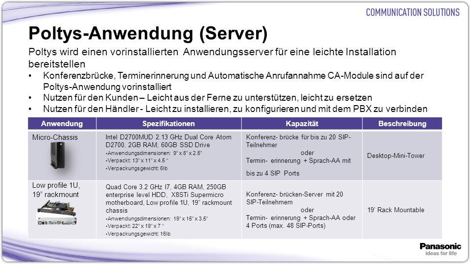 Poltys-Anwendung (Server)