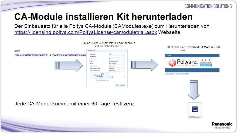 CA-Module installieren Kit herunterladen