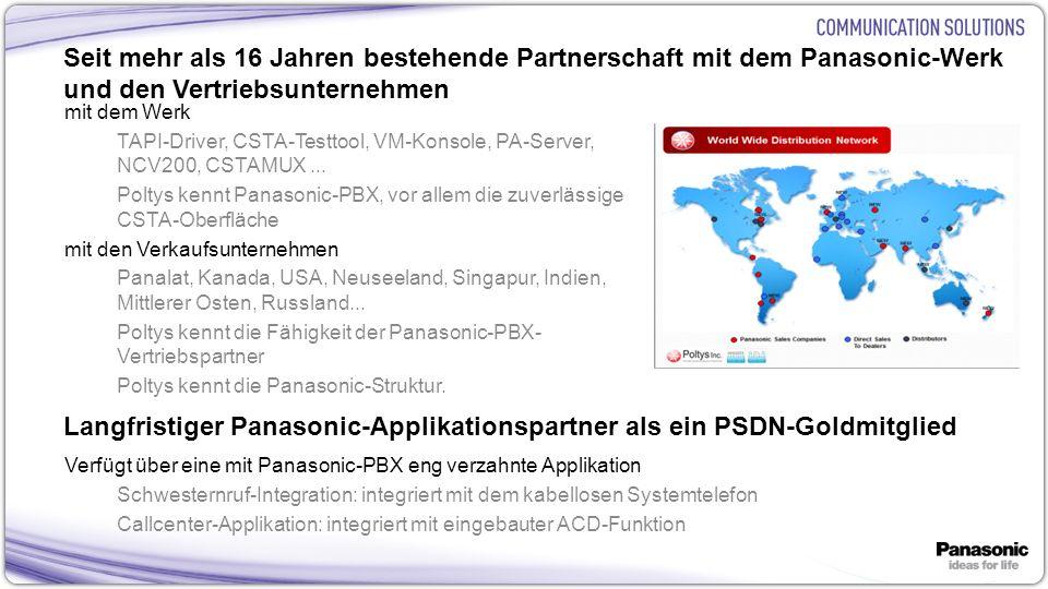 Langfristiger Panasonic-Applikationspartner als ein PSDN-Goldmitglied