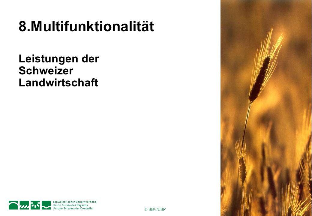 8.Multifunktionalität Leistungen der Schweizer Landwirtschaft