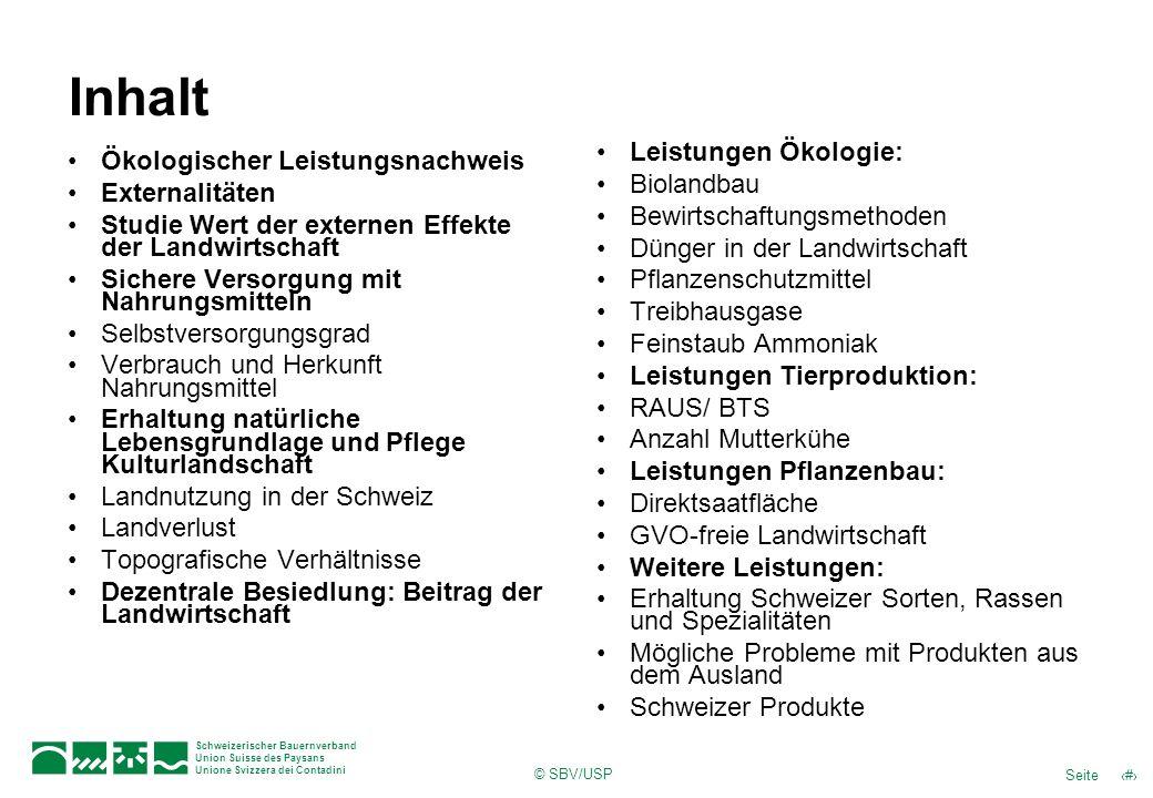 Inhalt Leistungen Ökologie: Biolandbau Bewirtschaftungsmethoden
