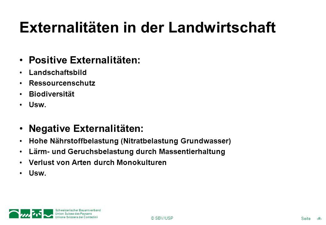 Externalitäten in der Landwirtschaft