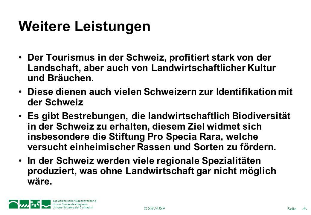 Weitere Leistungen Der Tourismus in der Schweiz, profitiert stark von der Landschaft, aber auch von Landwirtschaftlicher Kultur und Bräuchen.