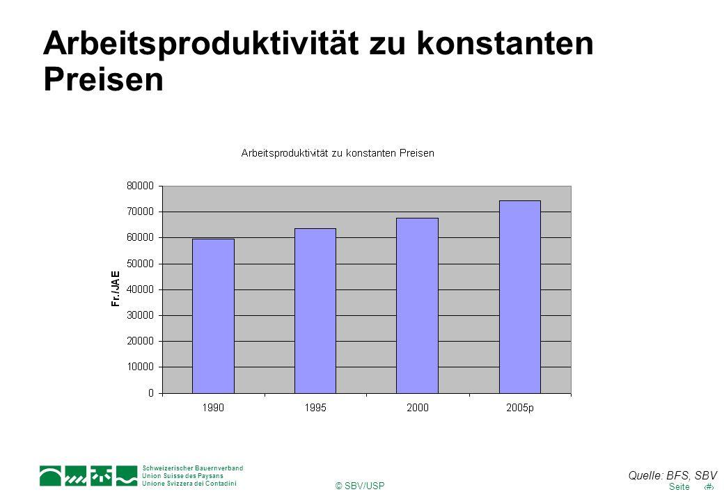 Arbeitsproduktivität zu konstanten Preisen