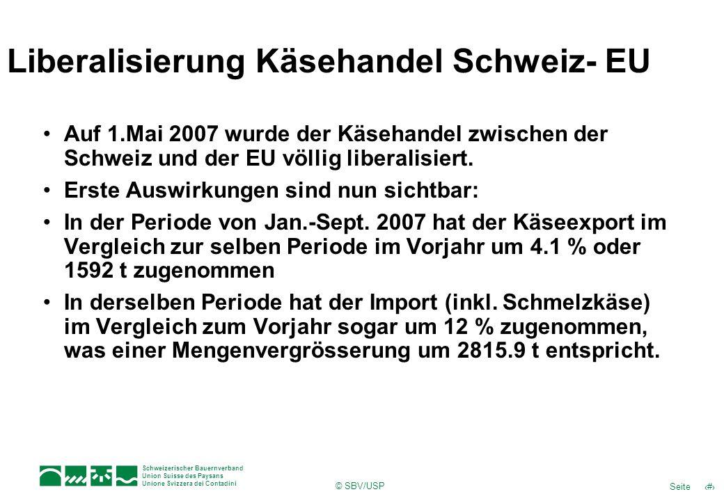 Liberalisierung Käsehandel Schweiz- EU