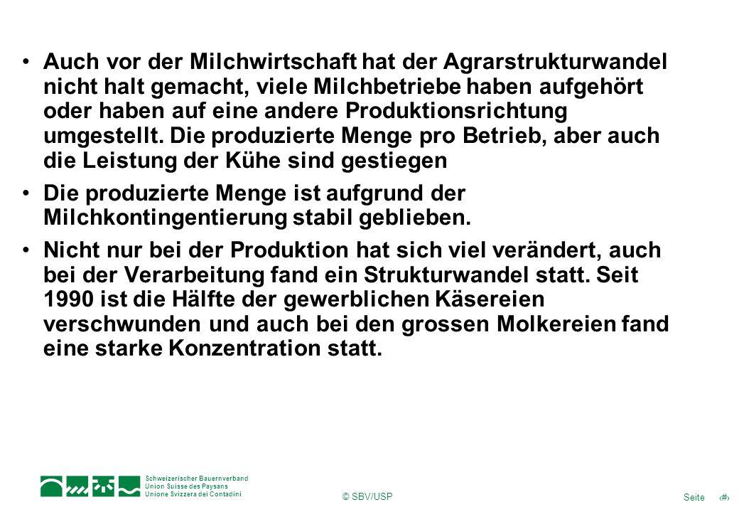 Auch vor der Milchwirtschaft hat der Agrarstrukturwandel nicht halt gemacht, viele Milchbetriebe haben aufgehört oder haben auf eine andere Produktionsrichtung umgestellt. Die produzierte Menge pro Betrieb, aber auch die Leistung der Kühe sind gestiegen