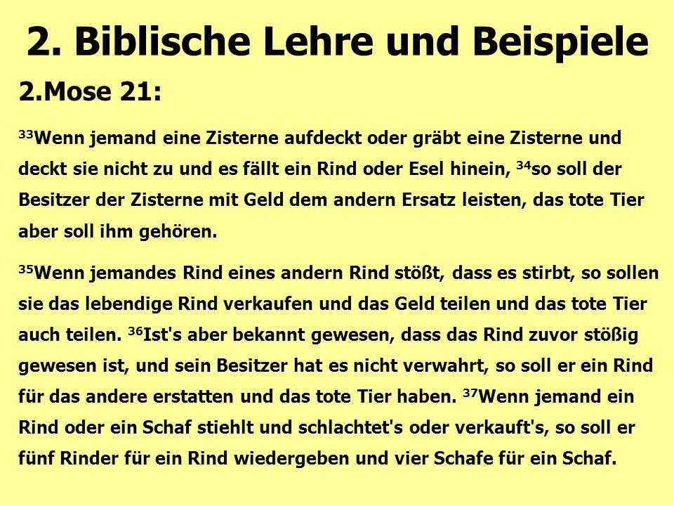 2. Biblische Lehre und Beispiele