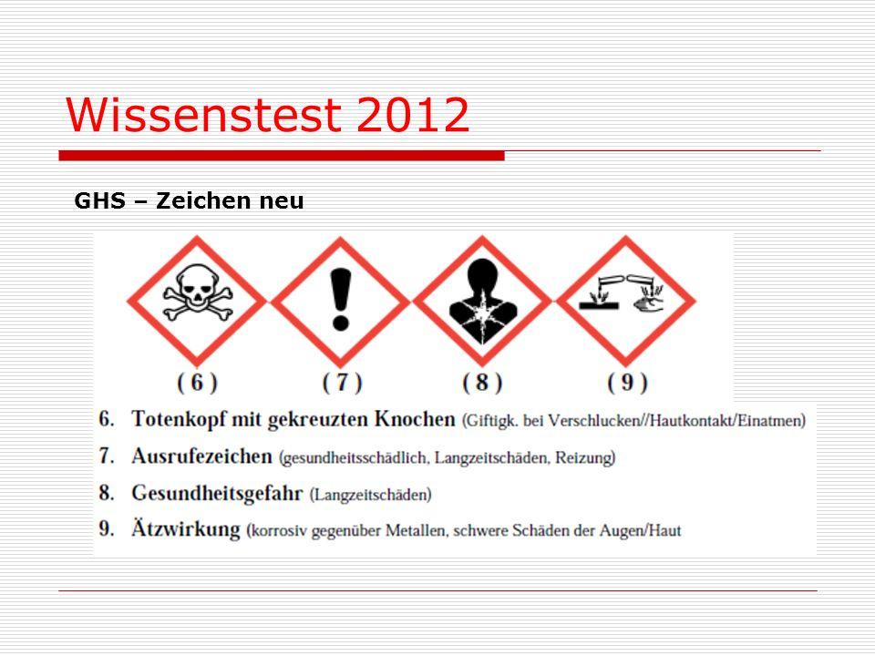 Wissenstest 2012 GHS – Zeichen neu
