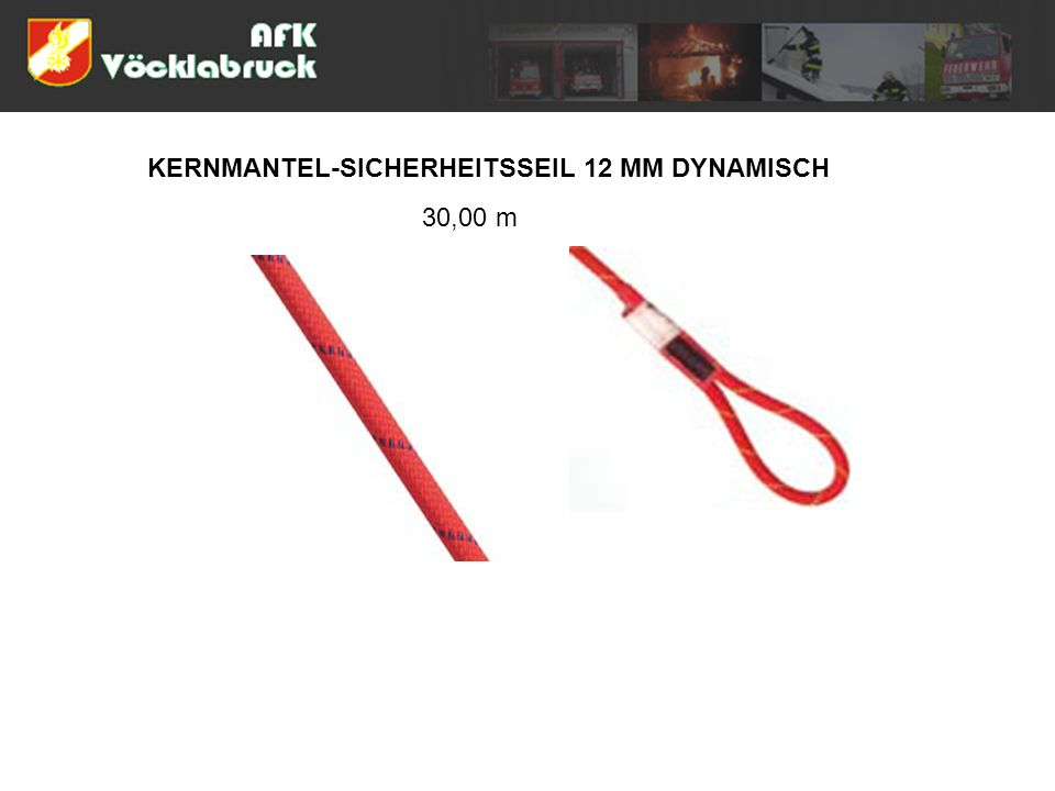 KERNMANTEL-SICHERHEITSSEIL 12 MM DYNAMISCH