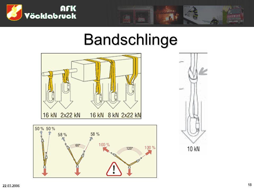 Bandschlinge 22.03.2006 18