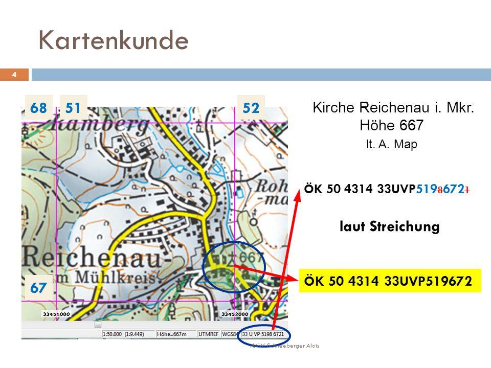Kartenkunde 68 51 52 laut Streichung 67 Höhe 667 lt. A. Map