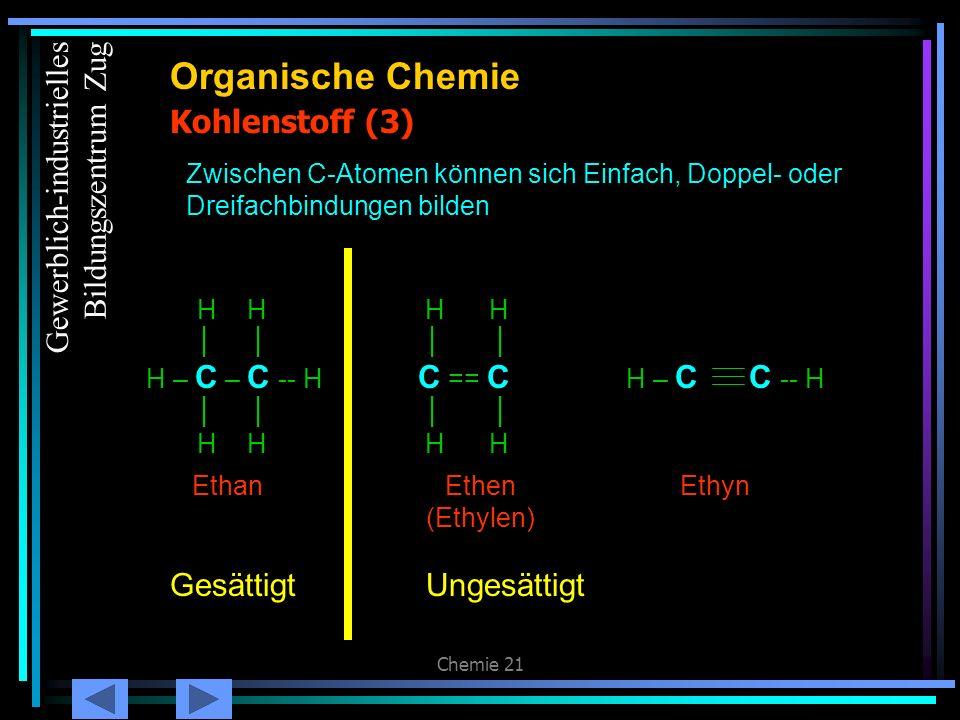 Organische Chemie Kohlenstoff (3) Gewerblich-industrielles