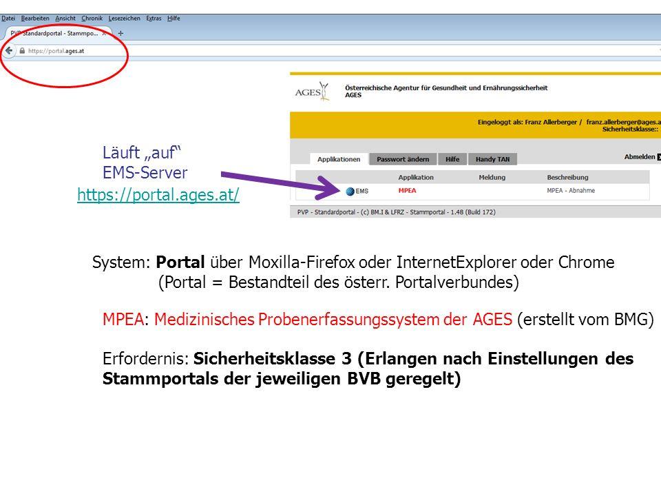 """Läuft """"auf EMS-Server"""