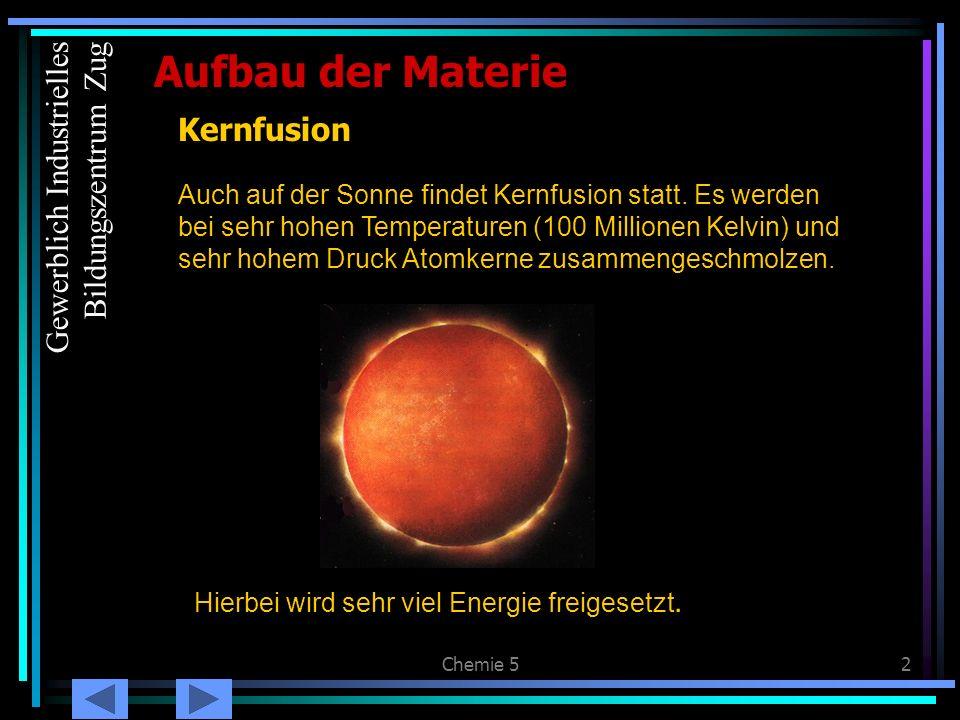 Aufbau der Materie Kernfusion Gewerblich Industrielles