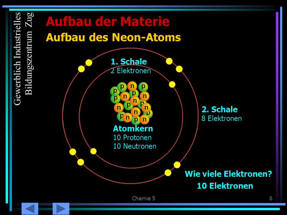 Aufbau der Materie Aufbau des Neon-Atoms Gewerblich Industrielles