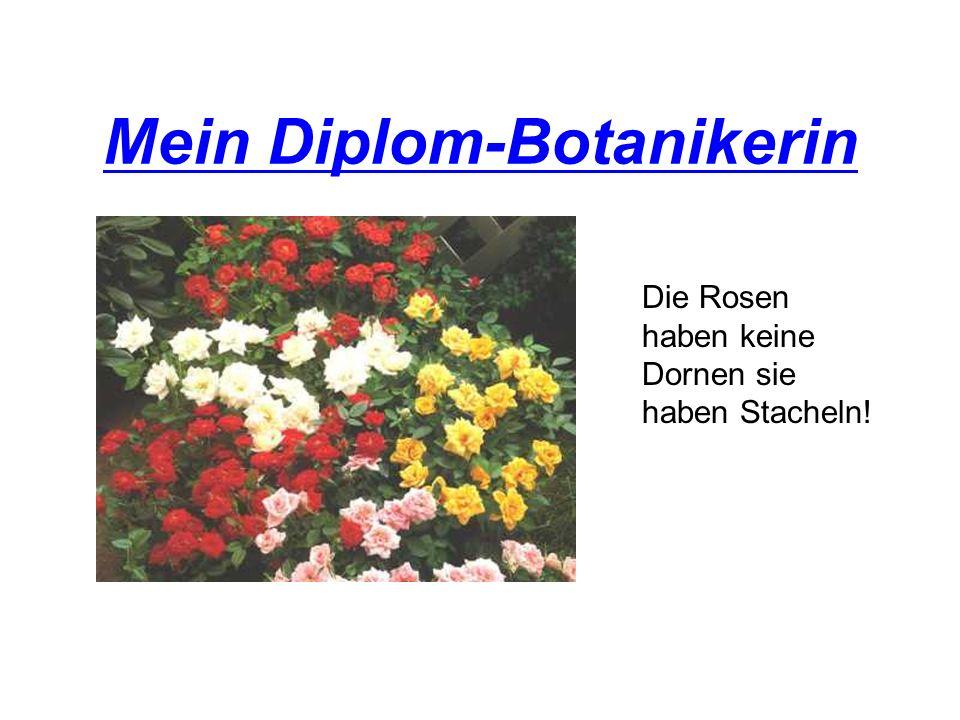 Mein Diplom-Botanikerin