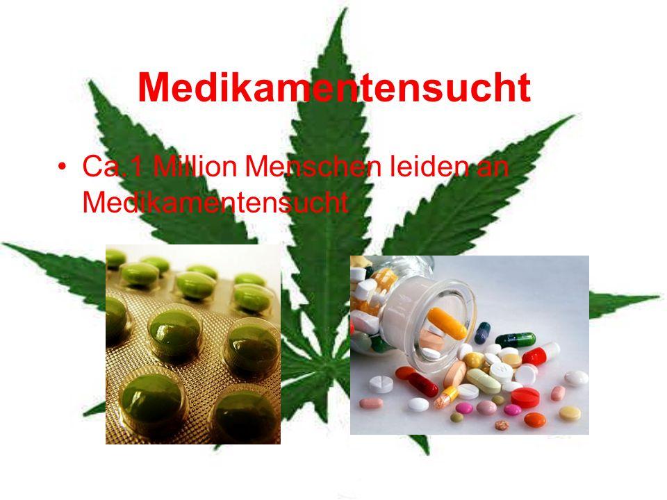 Medikamentensucht Ca.1 Million Menschen leiden an Medikamentensucht