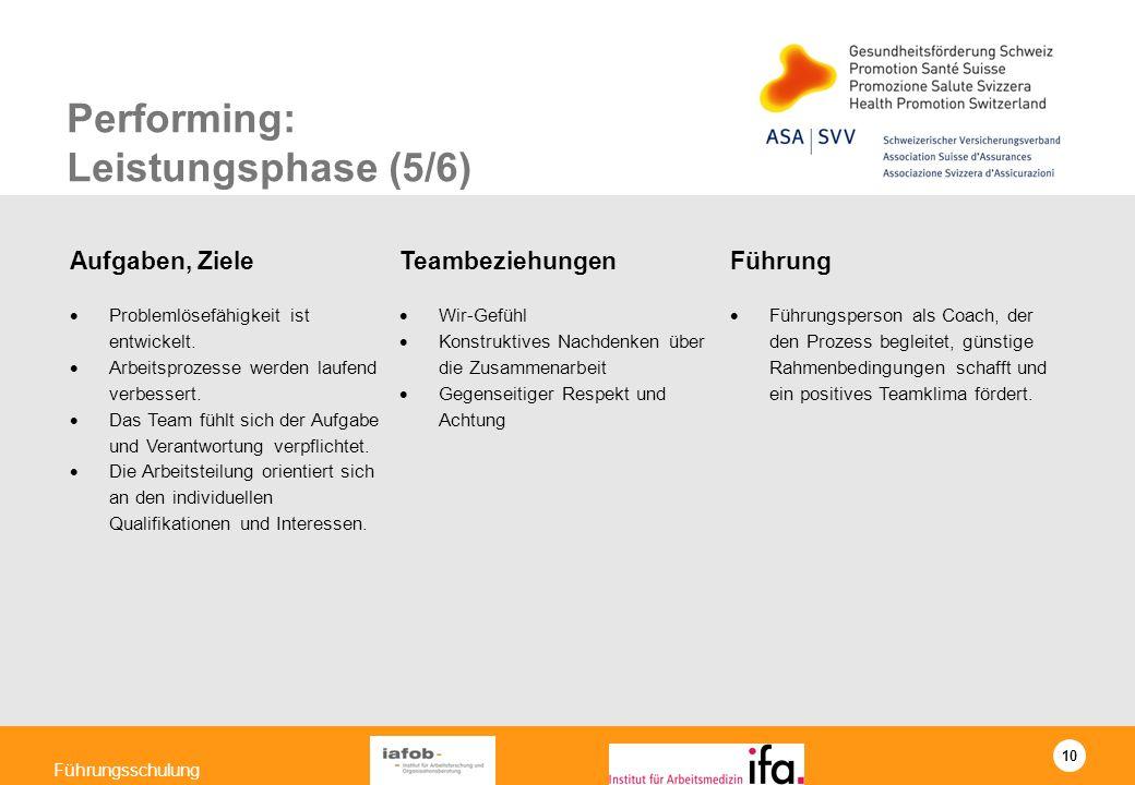 Performing: Leistungsphase (5/6)