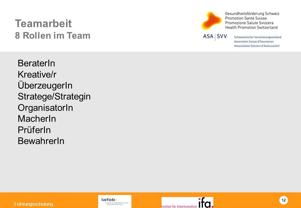 Teamarbeit 8 Rollen im Team