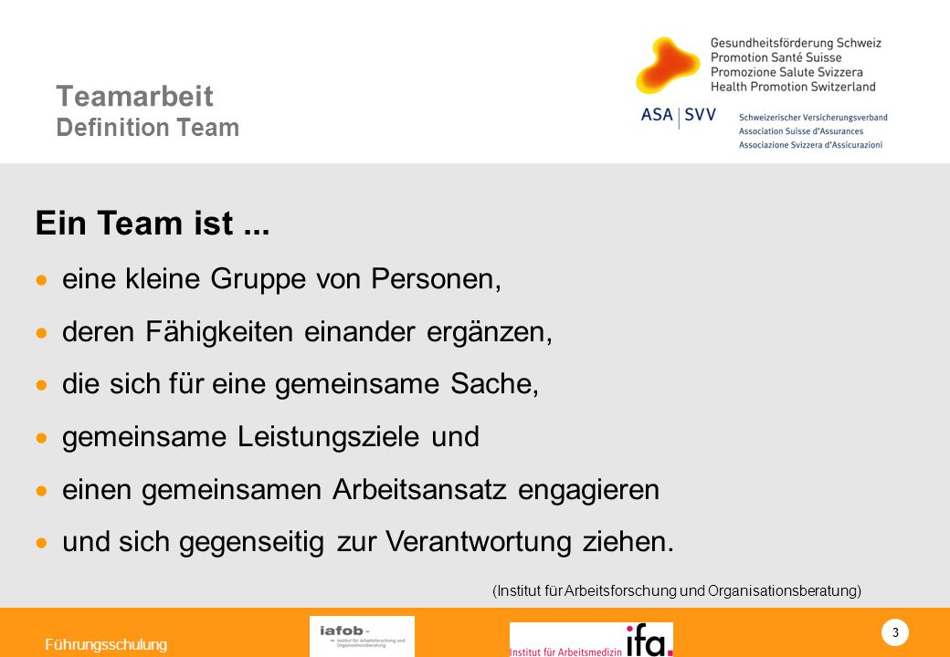 Teamarbeit Definition Team