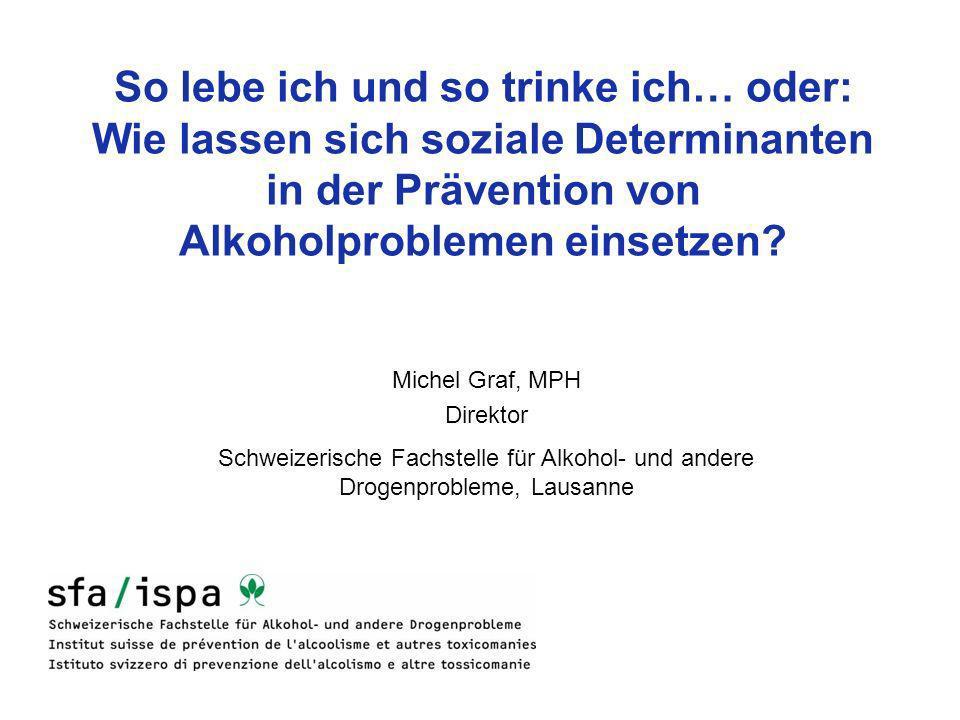So lebe ich und so trinke ich… oder: Wie lassen sich soziale Determinanten in der Prävention von Alkoholproblemen einsetzen