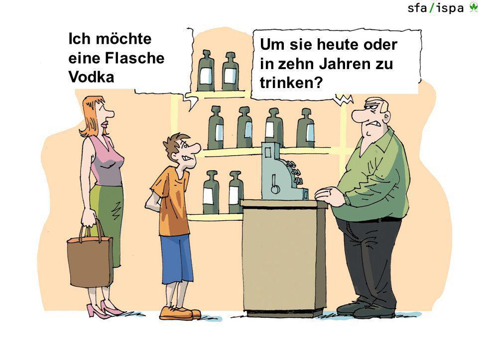 Ich möchte eine Flasche Vodka