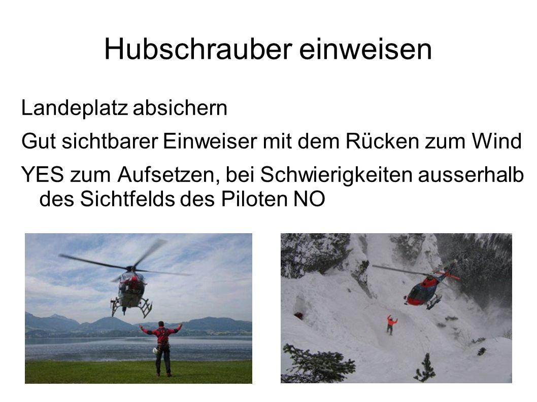Hubschrauber einweisen