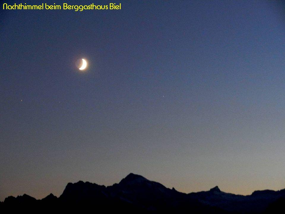 Nachthimmel beim Berggasthaus Biel