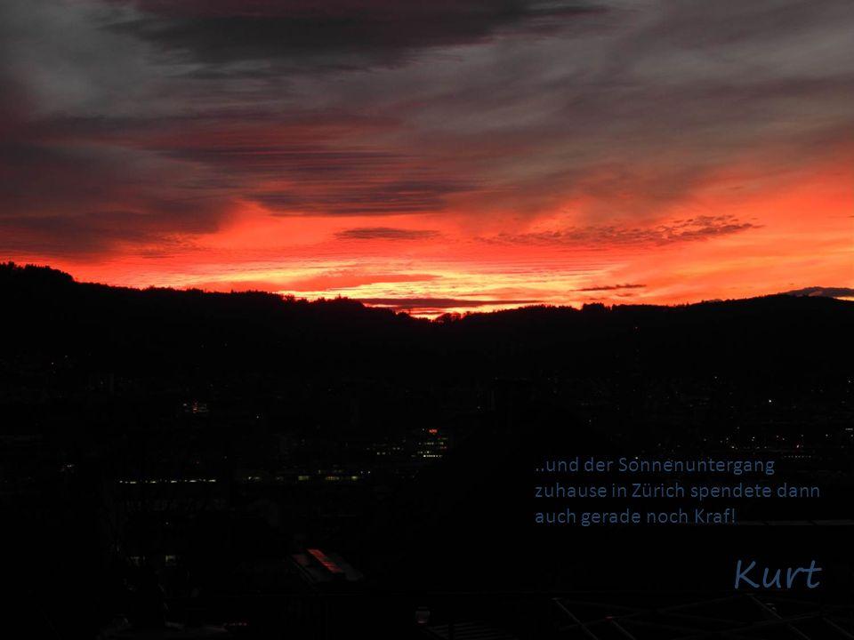 ..und der Sonnenuntergang zuhause in Zürich spendete dann auch gerade noch Kraf!