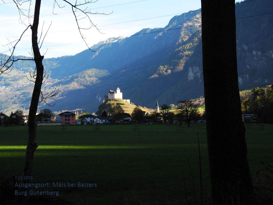 Ausgangsort: Mäls bei Balzers Burg Gutenberg