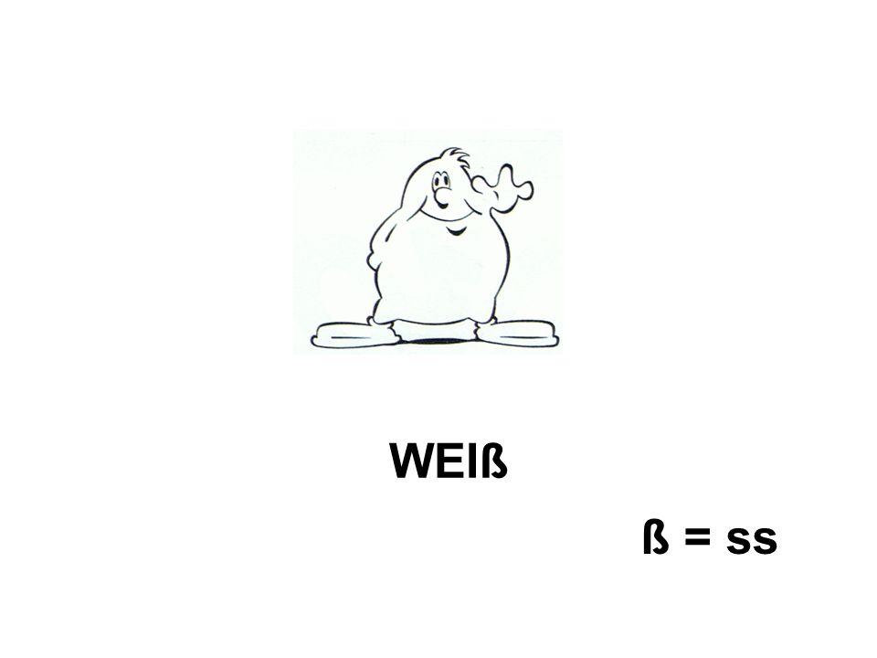 WEIß ß = ss