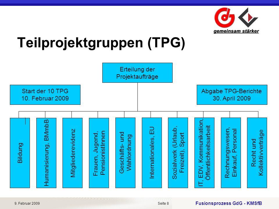 Teilprojektgruppen (TPG)