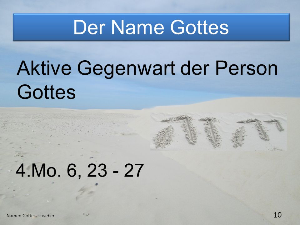 Aktive Gegenwart der Person Gottes